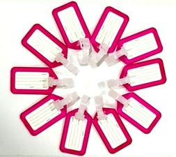 10 Piece Purple Plastic Luggage Tag for Suitcase Baggage