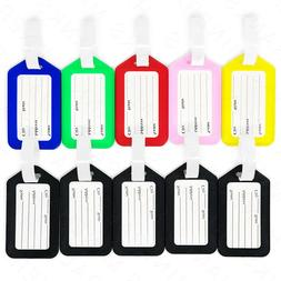 10x Luggage Tags Travel Suitcase Bag Tag Name Address ID Pla