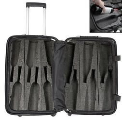 VinGardeValise 12-Bottle Wine Suitcase Wheels TSA Lock Hardc