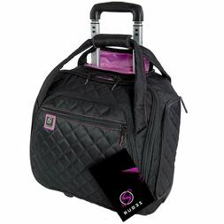 """14"""" Rolling Carry-On Luggage Underseat Suitcase Wheeled Trav"""