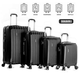 "16"" 20"" 24"" 28"" Set of 4 ABS Luggage Set Light Travel Case H"