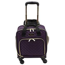 """kensie 16"""" Under Plane Seat Luggage Tote, Purple with Gold C"""