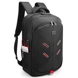 "17.3"" Laptop Backpack w/ TSA Lock USB Charging Port Headphon"