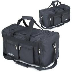 """18"""" & 22"""" Inch Duffle Bag Black Carry on Suitcase Lightweigh"""