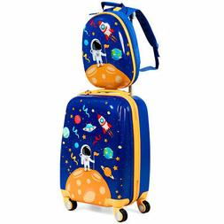 2PC Kids Luggage Set 18'' Rolling Suitcase & 12'' Backpack A