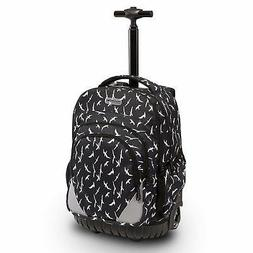 18 inches Multi-compartment Waterproof Wheeled Rolling Backp