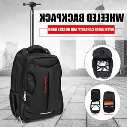 18''Trolley Wheeled Backpack Travel Luggage Suitcase Handbag