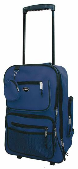 "HiPack 19"" Rolling Backpack Carry-on Luggage Wheeled Bag  Na"