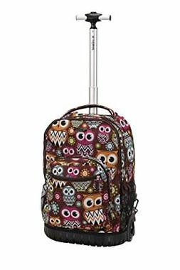 Rockland Unisex 19 Rolling Backpack R02 Owl Size 13 x 10 x 1