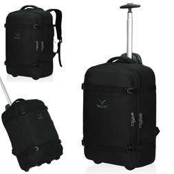 2-in-1 Convertible Travel Wheeled Carry-on Bag Luggage Rolli