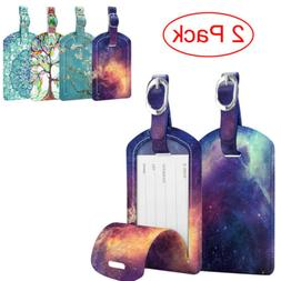 2 Pack Luggage Tags Name Address ID Labels w/ Back Privacy C