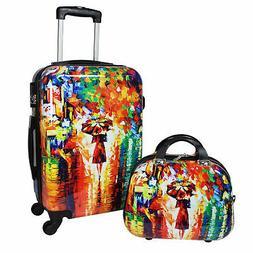 World Traveler 2-Piece Carry-On Hardside Spinner Luggage Set