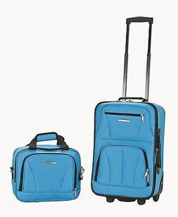 2 Piece Luggage Set Polyester - Turquoise