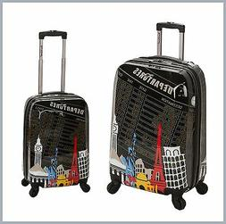 2 Piece Upright Hard Luggage Set Polycarbonate/ABS - Departu