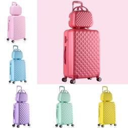 2 Pieces Women Travel Luggage With Cosmetic Bag Girl Student