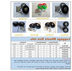 2 Set of Luggage Suitcase Replacement Wheels with ABEC 608zz