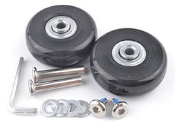 pranovo 2 Set Luggage Suitcase Replacement Wheels Axles 30 D
