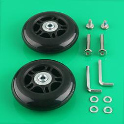 2 Set Luggage Suitcase Replacement Wheels Axles Deluxe Repai