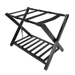 2 Tier Travel Folding Luggage Suitcase Rack Stand Home Hotel