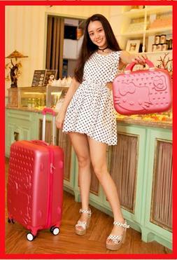 """20""""22""""24""""28 Hello Kitty Suitcase Set Children & Women Luggag"""