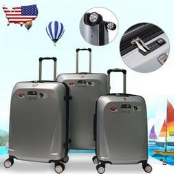 "Ginza 20"" 24"" 28"" 100% Polycarbonate 3 Pcs Travel Luggage Se"