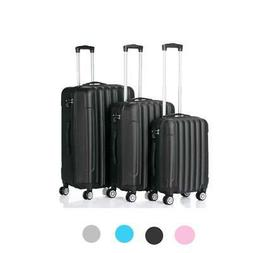 "20 24 28"" 3pcs Luggage Travel Set Bag ABS Trolley Hard Shell"