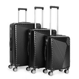 ABS Hard Shell Cabin Suitcase Case 4 Wheels Luggage Lightwei