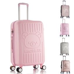 20 24 Inch Girls Trolley Bag Pastel Color Students Luggage C