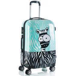 20 24 Inch Zebra Print Kids Luggage Cute Children Trolley Ba