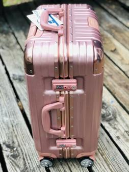 """20"""" Aluminum Frame Waterproof Carry On Rose Luggage Case S"""
