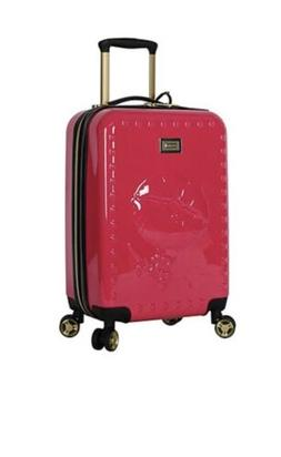 "💋BETSEY JOHNSON 20"" BIG KISS 😘 SPINNER LUGGAGE SUITC"
