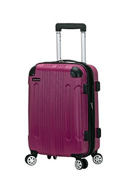 "Rockland 20"" Expandable Carry On, Spinner Luggage, Dark Red"