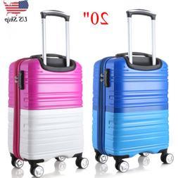 "20"" Expandable Hardside Luggage Travel Trolley Suitcase Carr"