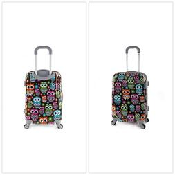 20 Inch Carry On Suitcase Polycarbonate Wheeled Luggage Spin