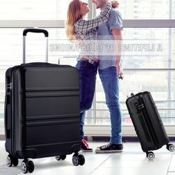 20 inch Hard Shell Cabin Suitcase 4 Wheel Luggage Spinner Li