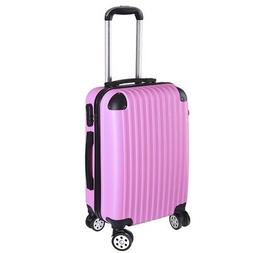 "20"" Rolling Luggage Travel Bag Trolley Suitcase ABS Wheels R"