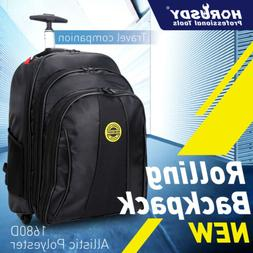 "20"" Travel Laptop Backpack Business Luggage wheel Rolling Pu"