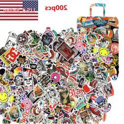 200 PCS Random Skateboard Stickers Graffiti Laptop Luggage D