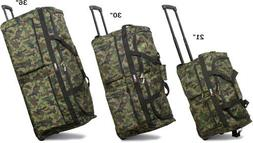 "21""/30""/36"", Camouflage Rolling Wheeled Duffel Bag Travel Du"
