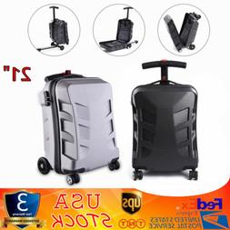 """21"""" PC Suitcase Scooter Travel Carry Luggage Handbag Wheels"""