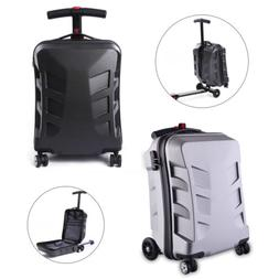 21'' Travel Scooter Luggage Carry Trolley Wheels Case Suitca