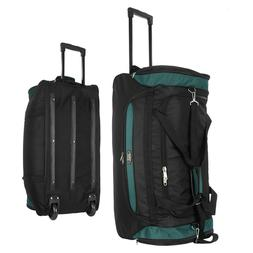 "22""/30""/36 Rolling Wheeled Duffel Bag Travel Duffle Suitcase"