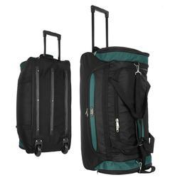 "22""/30""/36 Rolling Wheeled Duffel Bag Travel Duffle Suitcase"