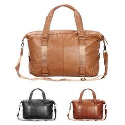 Faux Leather Travel Duffle Bag Overnight Weekend Carryon Air