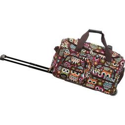 """Rockland Luggage 22"""" Rolling Duffle Bag 33 Colors Softside C"""