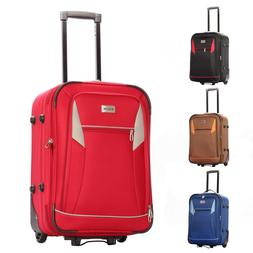 """20"""" Carry-On Luggage Expandable Rolling Travel Bag with Ligh"""