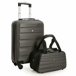 "Aerolite 22x14x9"" Hard shell Suitcase Spinner Carry On + U"