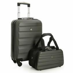 "Aerolite 22x14x9"" Hard shell Suitcase Spinner Carry On + Und"