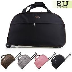 "24"" Rolling Wheeled Duffle Trolley Bag Tote Carry On Travel"