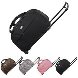 "24"" Rolling Wheeled Tote Duffel Suitcase Carry On Trolley"